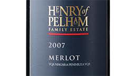 Henry of Pelham 2007 Merlot Label