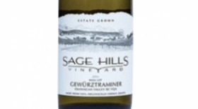 Sage Hills Organic Vineyard & Winery 2015 Gewürztraminer Label
