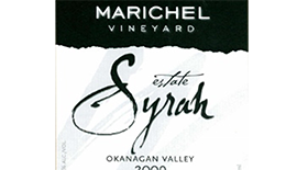 Marichel Vineyard & Winery 2009 Syrah (Shiraz) Label