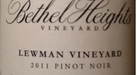 Pinot Noir Lewman Vineyard Label