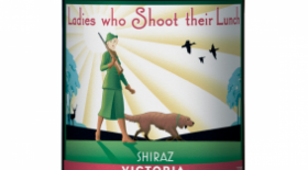 Fowles Wine Ladies Who Shoot Their Lunch Shiraz Label