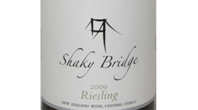 Shaky Bridge Wines 2013 Riesling Label