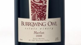 Burrowing Owl Estate Winery 2008 Merlot Label