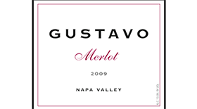 Gustavo  Merlot Napa Valley Label