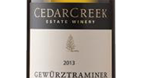 CedarCreek Estate Winery 2013 Gewürztraminer Label