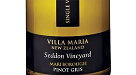 Single Vineyard Seddon Pinot Gris Label