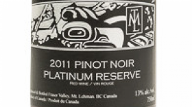 Mt. Lehman Winery 2016 Pinot Noir Platinum Reserve Label