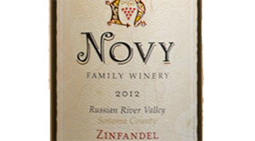 Novy Family Wines 2010 Zinfandel Label