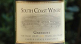 South Coast Winery 2011 Grenache Label