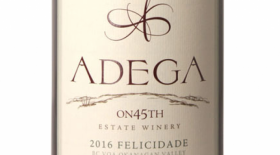 Adega on 45th Estate Winery Felicidade Label
