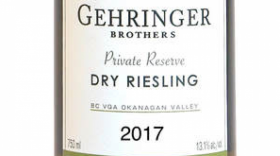 Gehringer Brothers Private Reserve 2017 Dry Riesling Label