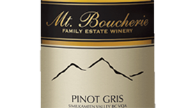 Mt. Boucherie Winery 2013 Pinot Gris (Grigio) Label