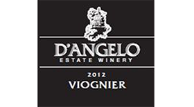 D'Angelo Estate Winery 2012 Viognier Label