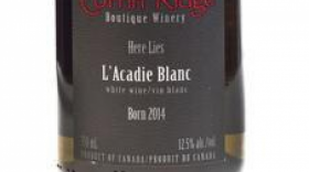 Coffin Ridge Boutique Winery 2016 l'Acadie Blanc Label
