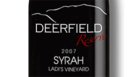 Deerfield Ranch Winery Reserve 2007 Syrah Label