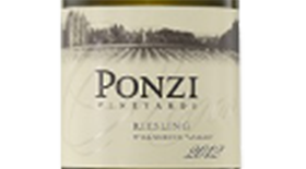 Ponzi Vineyards 2012 Riesling Label