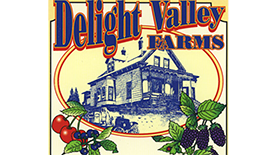 Delight Valley Farms Blackberry Wine Label