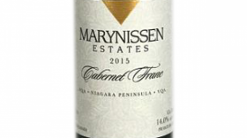 Marynissen Estates Winery 2015 Cabernet Franc Label