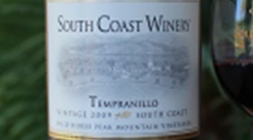South Coast Winery 2009 Tempranillo | Red Wine