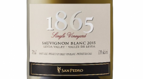 San Pedro 1865 Single Vineyard 2015 Sauvignon Blanc Label