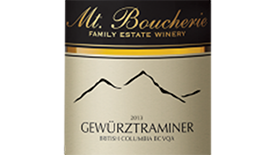 Mt. Boucherie Winery 2013 Gewürztraminer Label