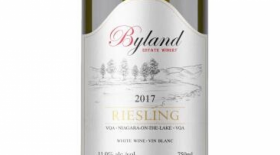 Byland Estate Winery 2017 Riesling Label
