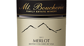Mt. Boucherie Winery 2012 Merlot Label