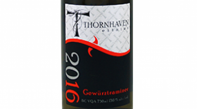 Thornhaven Estates Winery 2016 Gewürztraminer Label