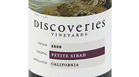 Discoveries Vineyards 2009 Petite Sirah Label