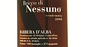 Bricco di Nessuno | Red Wine