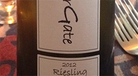 SummerGate 2012 Riesling Label