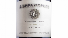 J Christopher 2014 Willamette Valley Pinot Noir  Label