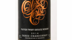 Oliver Twist Estate Winery 2014 Chardonnay Label