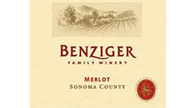 Benziger Family Winery 2013 Merlot Label