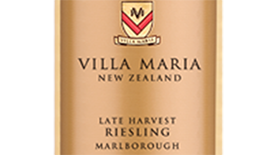 Villa Maria Cellar Selection 2012 Marlborough Late Harvest Riesling Label