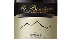 Mt. Boucherie Winery 2010 Syrah (Shiraz) Label