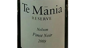 Te Mãnia Estate 2009 Pinot Noir Label