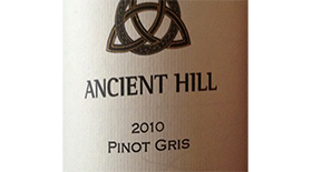 Ancient Hill Estate Winery 2010 Pinot Gris (Grigio) Label
