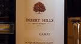 Desert Hills Estate Winery 2011 Gamay Label