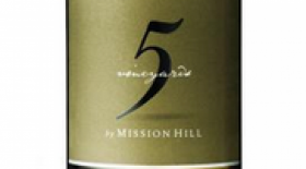 Mission Hill Five Vineyards 2016 Pinot Grigio Label