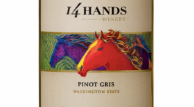 14 Hands Winery 2015 Pinot Gris Washington State Label