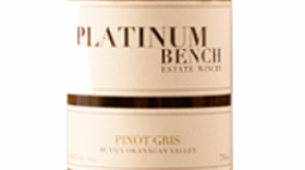 Platinum Bench Estate Winery & Artisan Bread Co. 2015 Pinot Gris (Grigio) Label