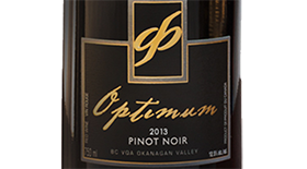 Optimum 2013 Pinot Noir Label