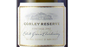 Corley Reserve Estate Grown Chardonnay Label