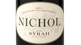 Nichol Vineyard 2012 Syrah (Shiraz) Label