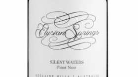 Elysian Springs Silent Waters 2015 Pinot Noir Label