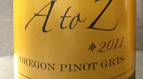 A to Z Wineworks 2011 Pinot Gris (Grigio) | White Wine