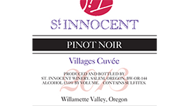 St. Innocent Villages Cuvée 2013 Pinot Noir Label