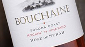 Bouchaine Rockin' H Vineyard Rose of Syrah Label