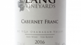 Lang Vineyards 2016 Cabernet Franc Label
